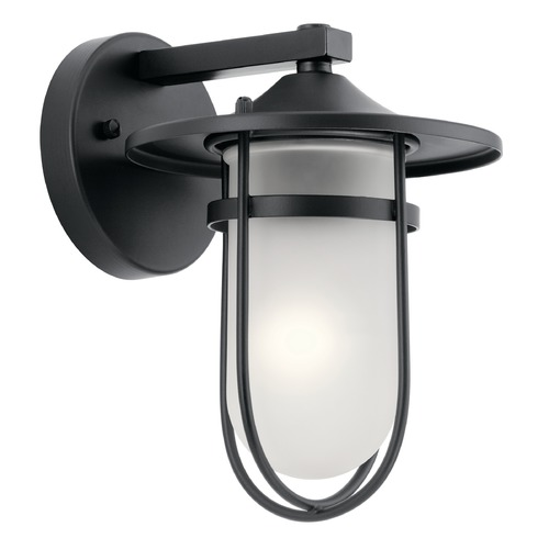 Kichler Lighting Kichler Lighting Finn Black Outdoor Wall Light 49824BK