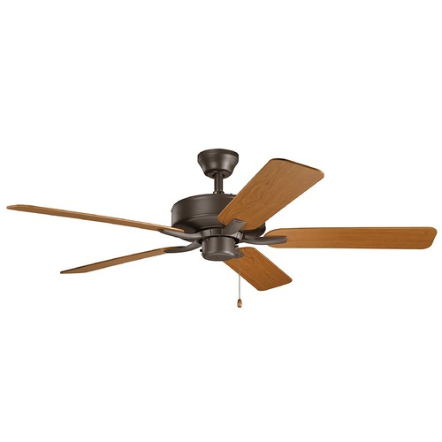 Kichler Lighting Basics Pro Satin Natural Bronze 52-Inch Ceiling Fan without Light 330018SNB