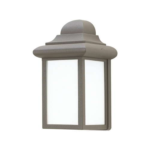 Sea Gull Lighting Outdoor Wall Light with White Glass in Bronze Finish 8988BLE-10