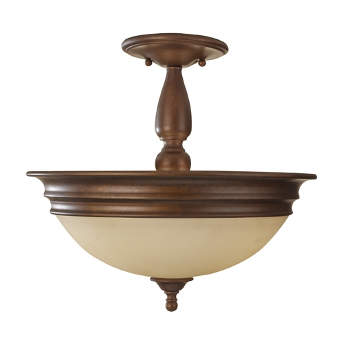 Feiss Lighting Semi-Flushmount Lights in Prescott Bronze Finish SF310PRBZ