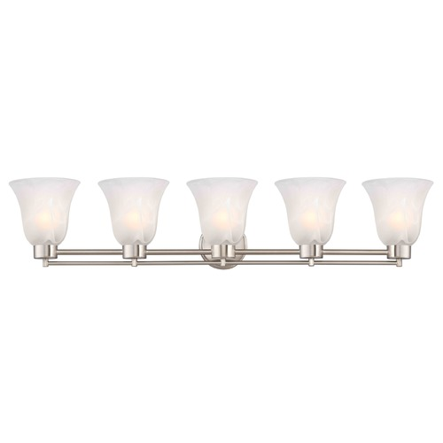 Design Classics Lighting Design Classics Salida Fuse Satin Nickel Bathroom Light 706-09 GL9222-ALB