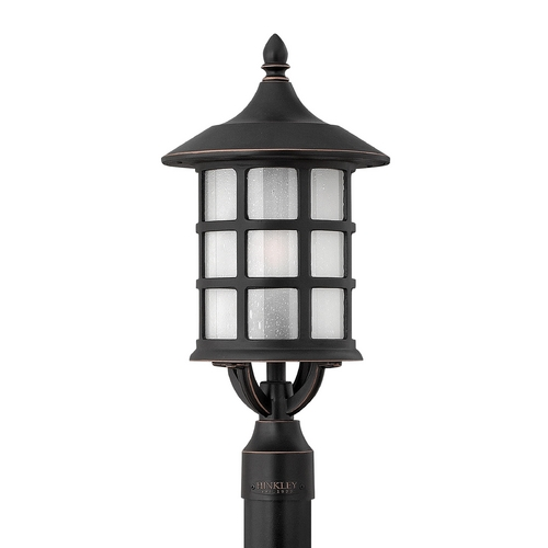 Hinkley Lighting Post Light with White Glass in Olde Penny Finish 1801OP-GU24