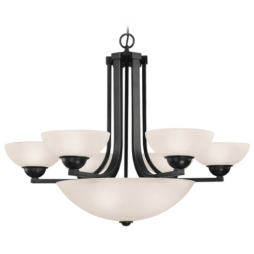 Dolan Designs Lighting Bronze Chandelier with Center Bowl and Nine Lights 205-46