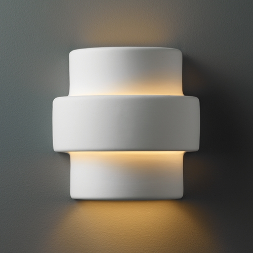 Justice Design Group Outdoor Wall Light in Bisque Finish CER-2205W-BIS