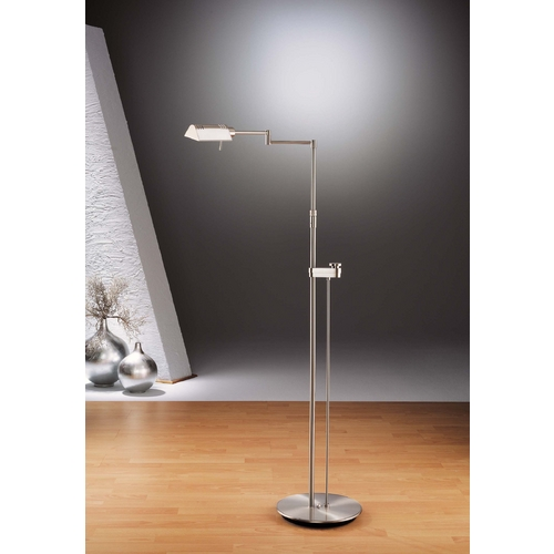 Holtkoetter Lighting Holtkoetter Modern Floor Lamp in Satin Nickel Finish 6317SLD SN