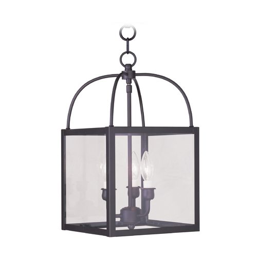 Livex Lighting Livex Lighting Milford Bronze Pendant Light with Square Shade 4037-07