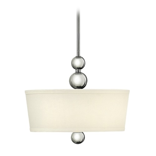 Hinkley Lighting Hinkley Lighting Zelda Polished Nickel Pendant Light with Conical Shade 3443PN-GU24