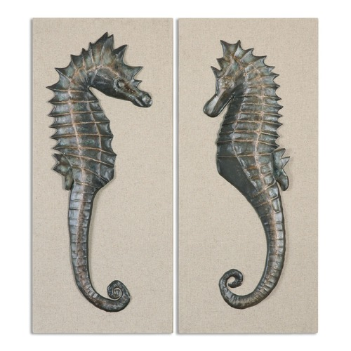 Uttermost Lighting Uttermost Seahorses Wall Art Set of 2 34293