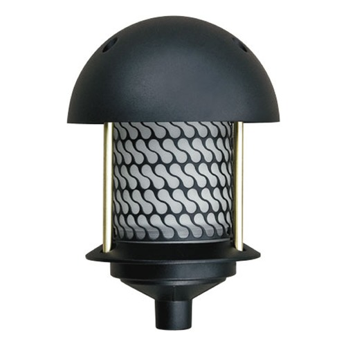 Dabmar Lighting Black Cast Aluminum Round Top Pagoda Light D8100-B