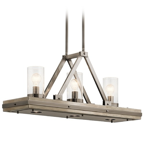 Kichler Lighting Kichler Lighting Colerne Classic Pewter Island Light with Cylindrical Shade 43433CLP