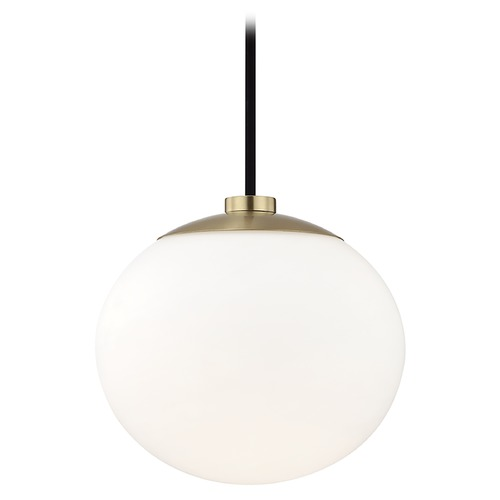 Hudson Valley Lighting Mid-Century Modern Mini-Pendant Light Brass Mitzi Estee by Hudson Valley H134701-AGB