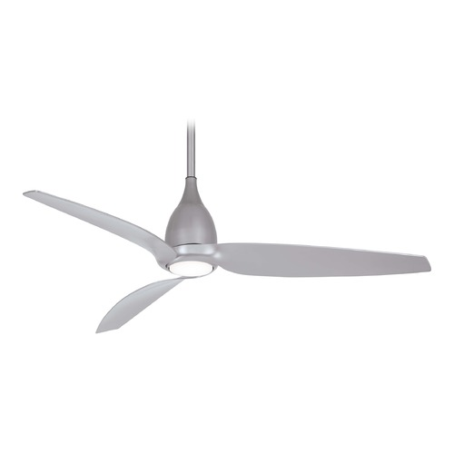 Minka Aire 60-Inch Minka Aire Tear Silver LED Ceiling Fan with Light F831L-SL