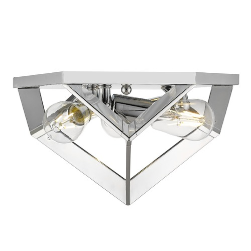 Golden Lighting Golden Lighting Architect Chrome Flushmount Light 2083-FMCH