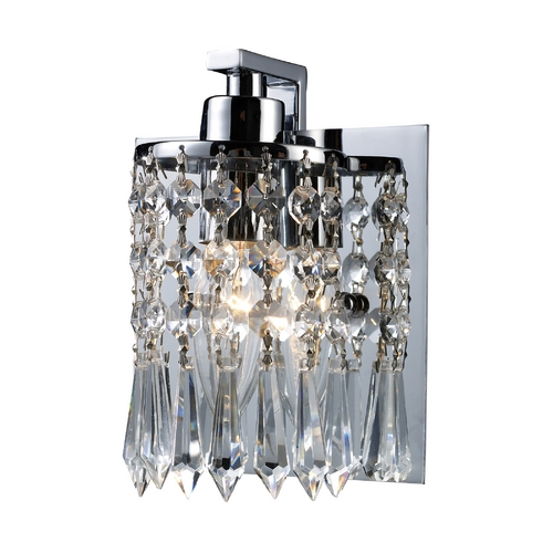 Elk Lighting Modern Bathroom Light with Clear Glass in Polished Chrome Finish 11228/1