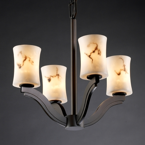 Justice Design Group Justice Design Group Lumenaria Collection Chandelier FAL-8970-60-DBRZ