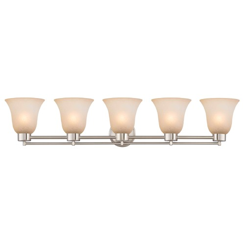 Design Classics Lighting Satin Nickel Bathroom Light 706-09 GL9222-CAR