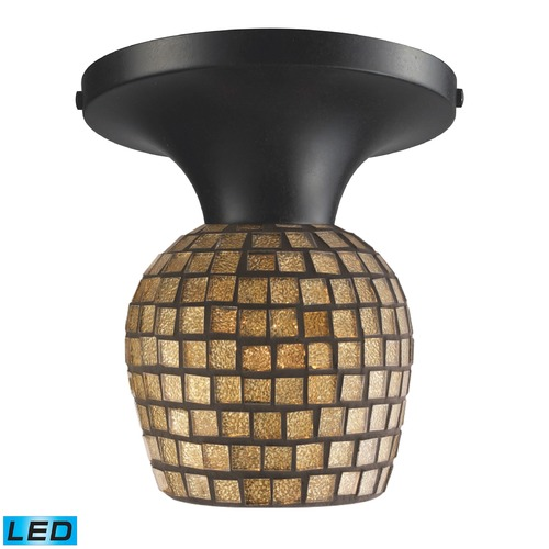 Elk Lighting Elk Lighting Celina Dark Rust LED Semi-Flushmount Light 10152/1DR-GLD-LED