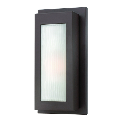 Hinkley Lighting Modern Outdoor Wall Light with White Glass in Buckeye Bronze Finish 2050KZ