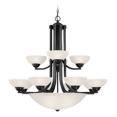 Dolan Designs Lighting Bronze Two-Tier Chandelier with Center Bowl and 15-Lights 206-46