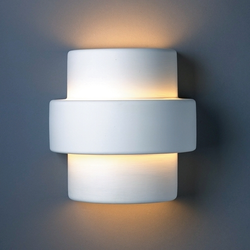 Justice Design Group Outdoor Wall Light in Bisque Finish CER-2215W-BIS