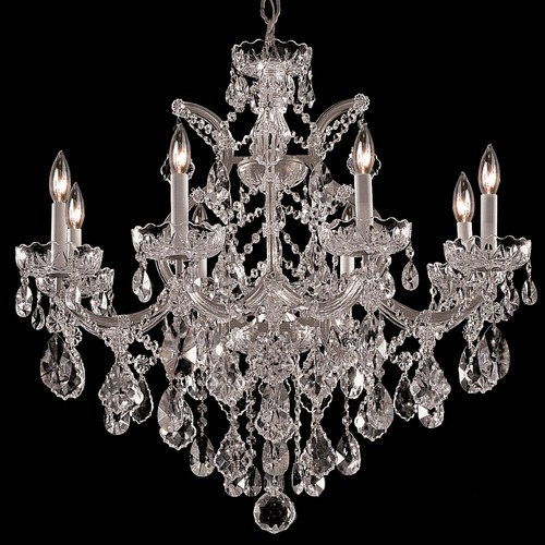 Crystorama Lighting Crystorama Maria Theresa 9-Light Crystal Chandelier in Polished Chrome 4409-CH-CL-S