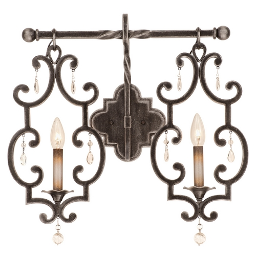 Kalco Lighting Kalco Lighting Montgomery Vintage Iron Bathroom Light 2632VI