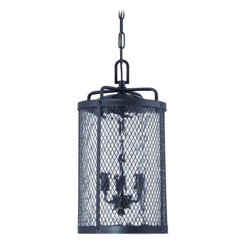 Craftmade Lighting Craftmade Lighting Blacksmith Matte Black Gilded Outdoor Hanging Light Z2221-17