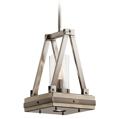 Kichler Lighting Kichler Lighting Colerne Classic Pewter Pendant Light with Cylindrical Shade 43435CLP