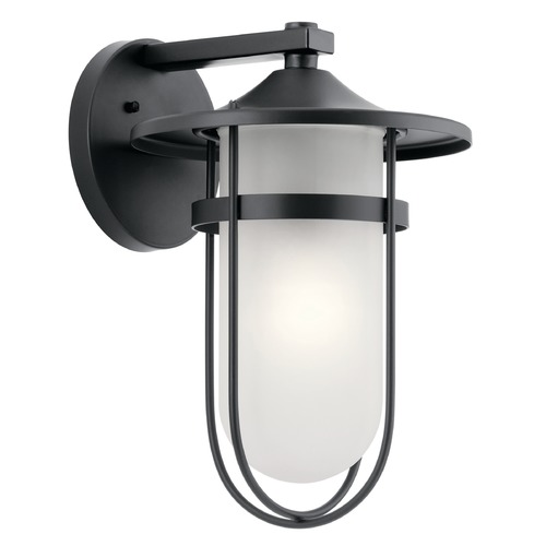 Kichler Lighting Kichler Lighting Finn Black Outdoor Wall Light 49826BK