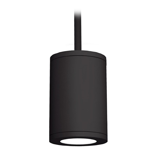 WAC Lighting 6-Inch Black LED Tube Architectural Pendant 4000K 2450LM DS-PD06-S40-BK