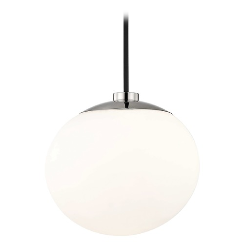 Mitzi by Hudson Valley Mid-Century Modern Mini-Pendant Light Polished Nickel Mitzi Estee by Hudson Valley H134701-PN