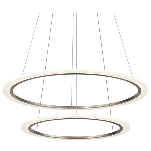 Elan Lighting Hyvo Brushed Nickel LED Pendant with Matte White Acrylic Shade 3000K 3925LM 83990