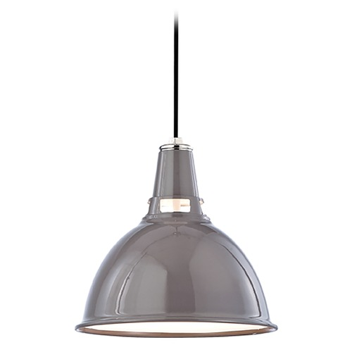 Hudson Valley Lighting Modern Pendant Light in Gray Polished Nickel Finish 6812-GPN