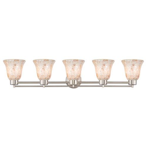 Design Classics Lighting Satin Nickel Bathroom Light 706-09 GL9222-M