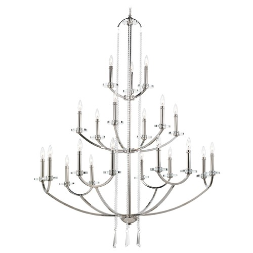 Progress Lighting Modern Chandelier in Polished Nickel Finish P4630-104
