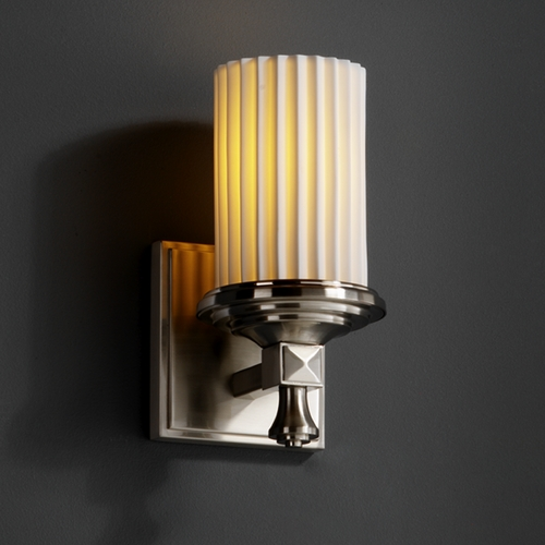 Justice Design Group Justice Design Group Limoges Collection Sconce POR-8531-10-PLET-NCKL