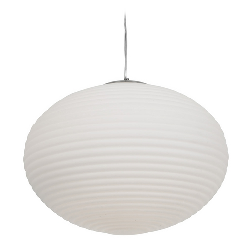 Access Lighting Access Lighting Callisto Brushed Steel Pendant Light with Globe Shade C50181BSOPLEN1313B