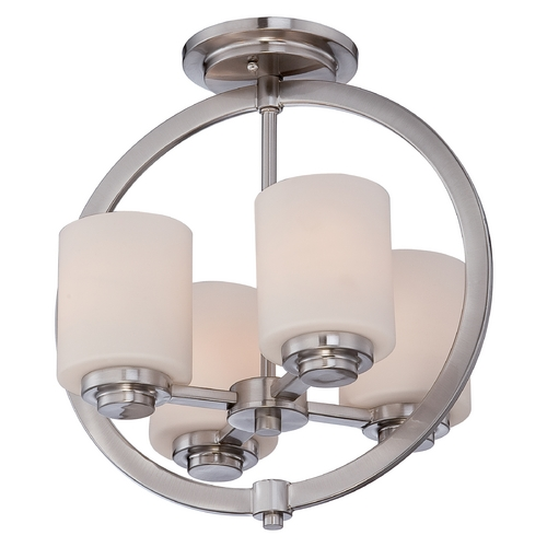 Quoizel Lighting Quoizel Celestial Brushed Nickel Semi-Flushmount Light CLT1714BN