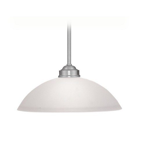 Livex Lighting Livex Lighting Somerset Brushed Nickel Pendant Light with Bowl / Dome Shade 4212-91