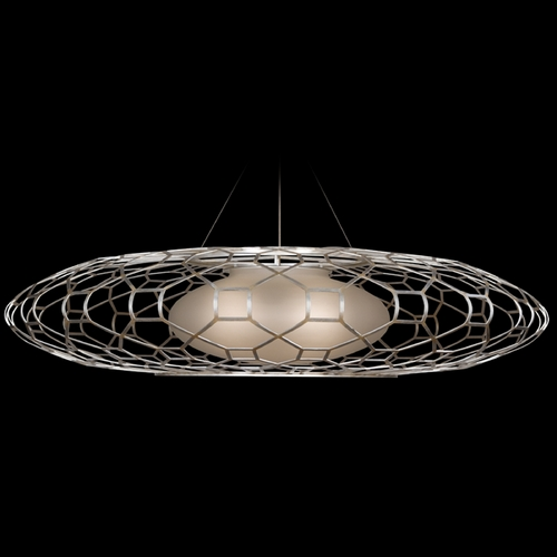 Fine Art Lamps Fine Art Lamps Allegretto Silver Platinized Silver Leaf with Subtle Brown Highlights Pendant Light w 816940ST