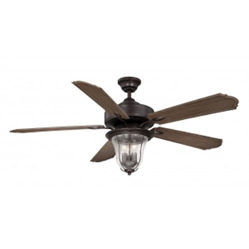 Savoy House Savoy House Lighting Trudy English Bronze Ceiling Fan with Light 52-135-5WA-13