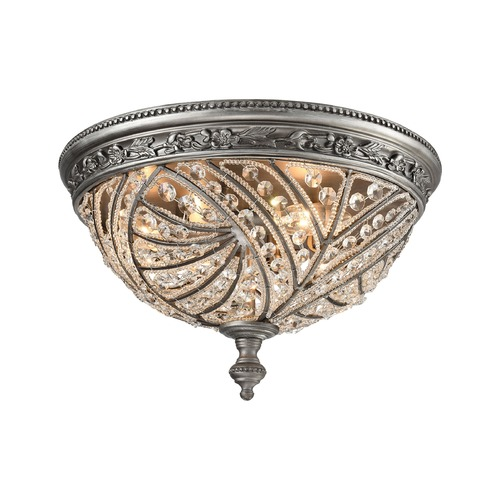 Elk Lighting Elk Lighting Renaissance Weathered Zinc Flushmount Light 16250/4