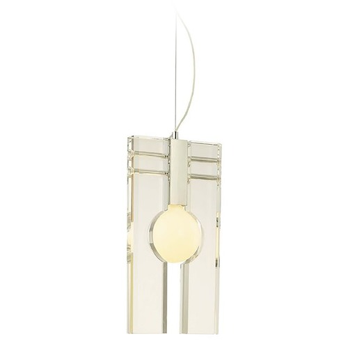 George Kovacs Lighting Modern Mini-Pendant Light with Clear Glass P448-077