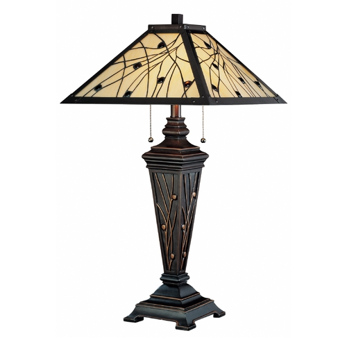 Lite Source Lighting Lite Source Lighting Remus Dark Bronze Table Lamp with Square Shade C41117