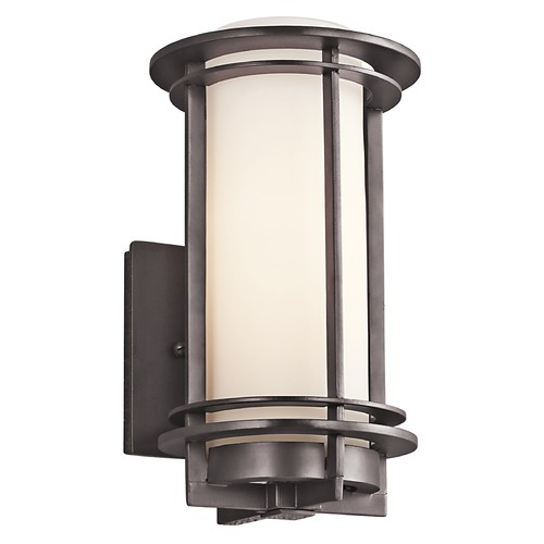 Kichler Lighting Kichler Outdoor Wall Light with White Glass in Bronze Finish 49344AZ