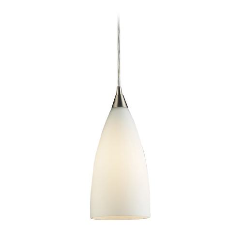 Elk Lighting Modern Mini-Pendant Light with White Glass 2580/1
