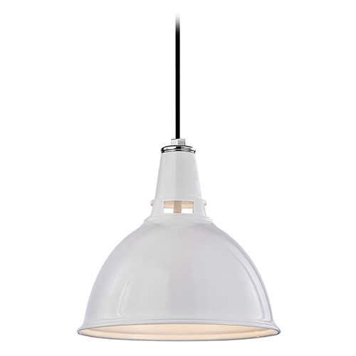 Hudson Valley Lighting Modern Pendant Light in White Polished Nickel Finish 6812-WPN