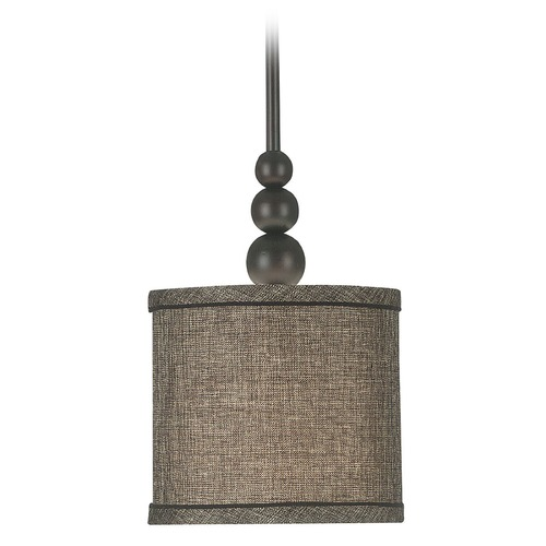 Kenroy Home Lighting Modern Mini-Pendant Light with Brown Shade 91641ORB