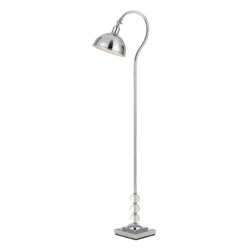 AF Lighting Modern Arc Lamp with Silver Shade in Chrome Finish 8495-FL