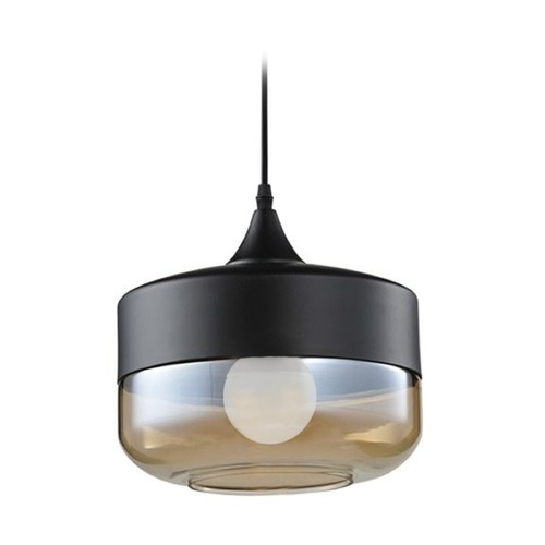 Avenue Lighting Two - Toned Round Pendant HF9113-BK/BZ KIT W/ LED